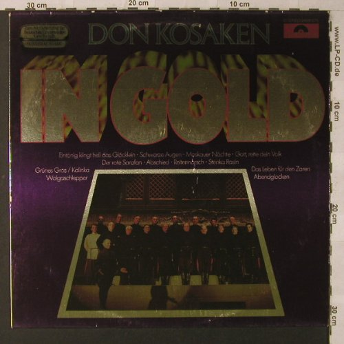 Don Kosaken: In Gold-Sonderausgabe, Polydor(2459 375), ,  - LP - F1752 - 4,00 Euro