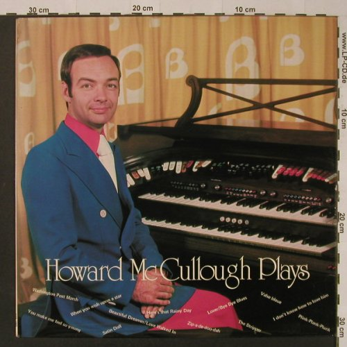 Mc Culloch,Howard: Plays, Grosvenor(GRS 1040), UK, 1975 - LP - F4055 - 6,00 Euro