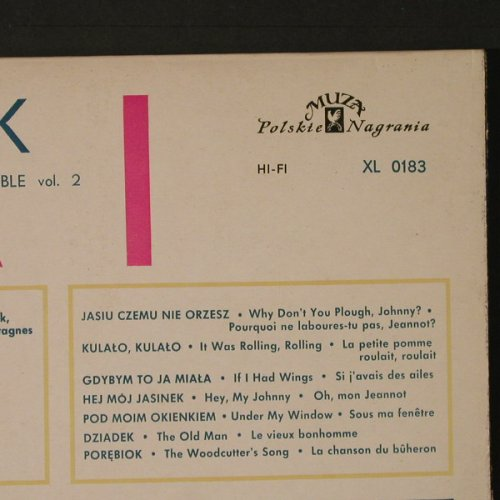 Slask: The Polish song&dance ensemble,Vol2, Muza(XL 0183), PL,  - LP - F4124 - 7,50 Euro