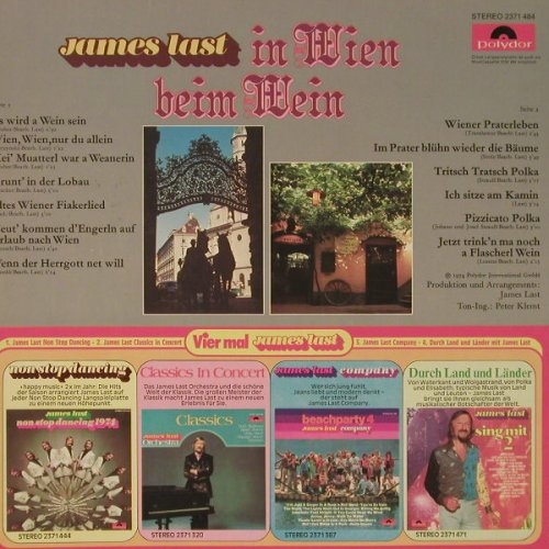 Last,James: In Wien, Polydor(2371 484), D, 1974 - LP - F4189 - 5,00 Euro