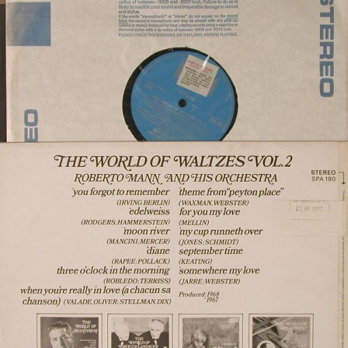 Mann,Roberto and his Orchestra: The World of Walzes, Vol.2, Decca(SPA 180), UK, 1971 - LP - F5012 - 5,00 Euro