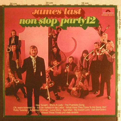 Last,James: Non Stop Party 12, Club-Sonderaufl., Polydor(28 631-0), D, 1971 - LP - F5868 - 5,00 Euro