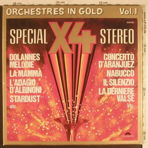 V.A.Orchestres in Gold: Vol.1 Special X4 Stereo, Polydor(2630 086), F,  - 4LP - F6086 - 9,00 Euro