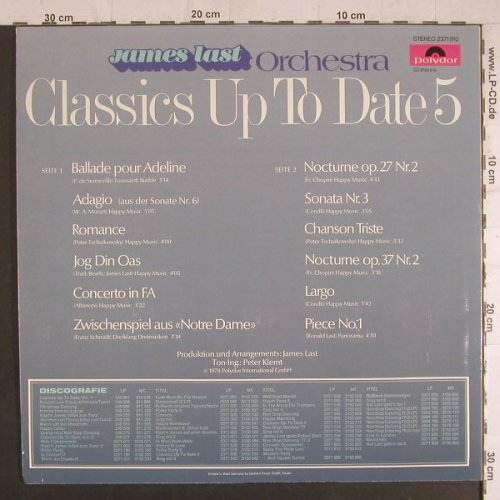 Last,James: Classics Up To Date Vol.5, Polydor(2371 910), D, 1978 - LP - F6092 - 5,00 Euro