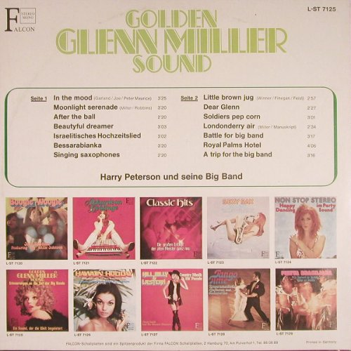 Peterson,Harry und seine Big Band: Golden Glen Miller Sound, Falcon(L-ST 7125), D,  - LP - F6328 - 4,00 Euro