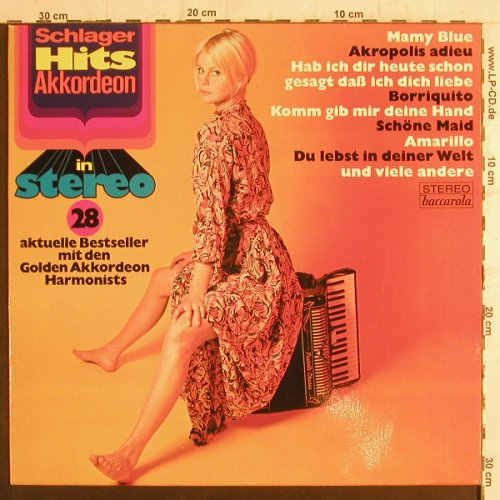Golden Akkordeon Harmonists: Schlager Hits Akkordeon 28, Baccarola(86 449 ZT), D,  - LP - F6566 - 3,00 Euro