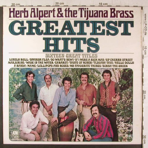 Alpert,Herb & Tijuana Brass: Greatest Hits, Foc, AM(AMLS 980), UK, 1970 - LP - F6682 - 9,00 Euro