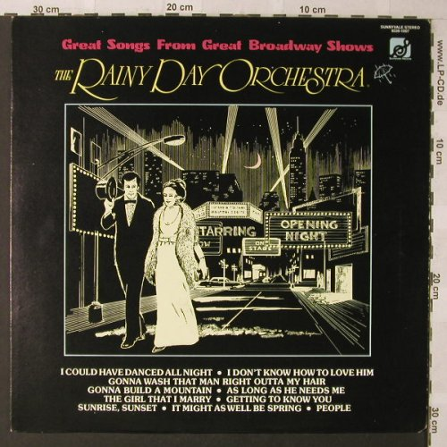 Rainy Day Orchestra: Great Songs From Great BroadwayShow, Sunnyvale(9330-1007), US co, 1977 - LP - F757 - 5,00 Euro