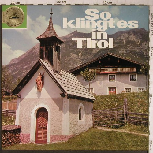 V.A.So klingt es in Tirol: A Musical Souvernier of, Electrola(83 569), D,  - LP - F7968 - 6,00 Euro