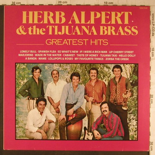 Alpert,Herb & Tijuana Brass: Greatest Hits, Hallmark(SHM 3143), UK, 1984 - LP - F8267 - 5,00 Euro