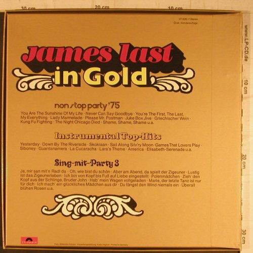 Last,James: In Gold, Box,Club-Sonderauflage, Polydor(27 505-7), D,  - 3LP - F8295 - 9,00 Euro