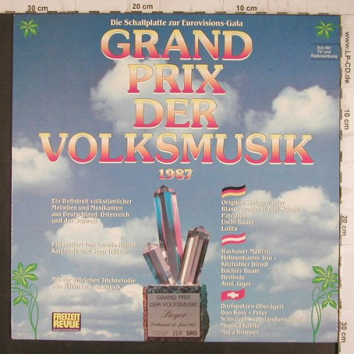 V.A.Grand Prix der Volksmusik: (International) 1987, CBS(450 964 1), NL, 1987 - LP - F8327 - 5,00 Euro