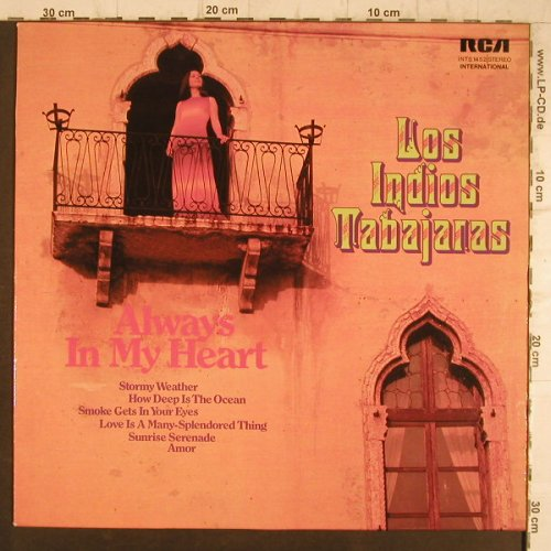 Los Indios Tabajaras: Always in my Heart, RCA International(INTS 1452), D,  - LP - F8333 - 5,00 Euro