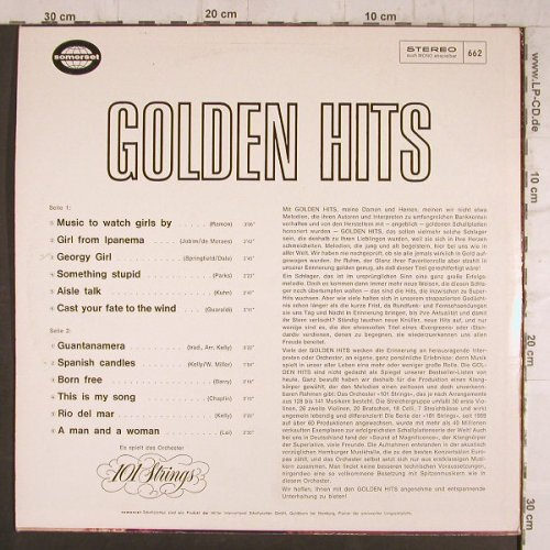 101 Strings: Golden Hits, Somerset(662), D,  - LP - F8365 - 5,00 Euro