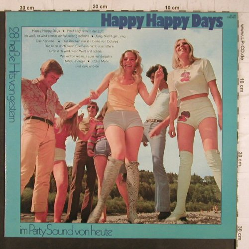 Klein,Ferdy/Jary,Michael  Chor&Orch: Happy Happy Days, 28 heiße Hits, Ariola, Club Sonderaufl.(61 135), D,  - LP - F8419 - 7,50 Euro