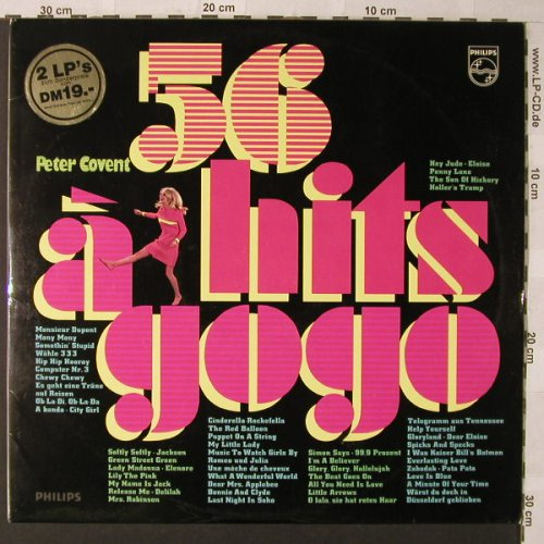 Covent,Peter: 56 Hits A Go Go, Foc, Philips(H 72 AM 225), D,  - 2LP - F889 - 6,00 Euro