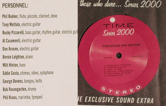 Percussions and Guitars: Same, Foc, vg+/m-, Time Rec. Serie 2000(S/2000), US, 1960 - LP - F9548 - 5,00 Euro