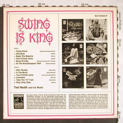 Heath,Ted  and his Music: Swing Is King, Foc, Decca Phase 4(SLK 16 834-P), D,  - LP - F9641 - 7,50 Euro