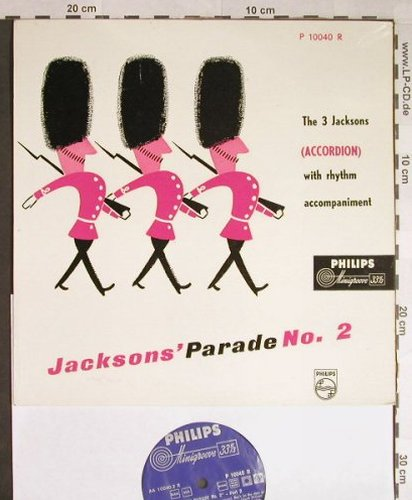 3.Jacksons: Parade No.2 (Accordion), Philips(P 10040 R), NL,  - 10inch - H126 - 9,00 Euro