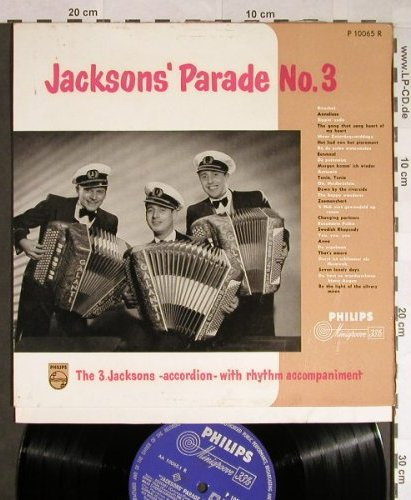 3.Jacksons: Parade No.3,Accordion with rhythm.., Philips(P 10065 R), NL,  - 10inch - H127 - 9,00 Euro