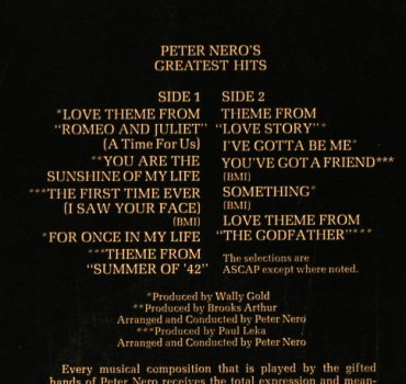 Nero,Peter: Greatest Hits, Columbia(PC 33 136), US, 1974 - LP - H1894 - 7,50 Euro