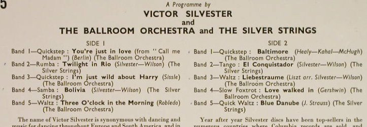 Silvester,Victor: Dancing to - Number Two, vg+/m-, Columbia(33S 1015), UK,  - 10inch - H191 - 6,00 Euro
