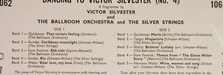 Silvester,Victor: Dancing to - Number Four, Columbia(33S 1062), UK,  - 10inch - H192 - 7,50 Euro