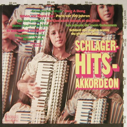 Golden Akkordeon Harmonists: Schlager Hits Akkordeon, Baccarola(89 040), D,  - LP - H2288 - 4,00 Euro