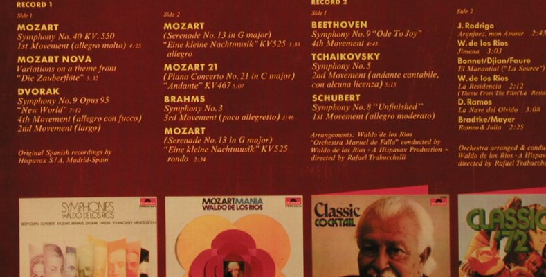 De Los Rios,Waldo: Mozart No.40..and other classical, Polydor(2679 012), D, Foc, 1972 - 2LP - H2939 - 7,50 Euro