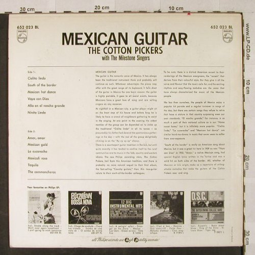 Cotton Pickers  w.Milestone Singers: Mexican Guitar, vg+/m-, Philips(652 023 BL), NL,  - LP - H3038 - 4,00 Euro