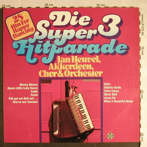 Heuvel,Jan: Die Super Hitparade 3, Telefunken(6.22939 AF), D, 1977 - LP - H306 - 4,00 Euro