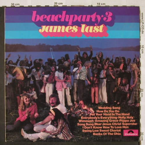 Last,James: Beachparty 3, Polydor(2371 288 SUPER), UK, 1972 - LP - H3177 - 5,00 Euro