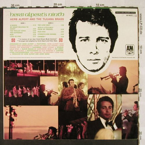 Alpert,Herb & Tijuana Brass: Ninth, AM(212 024), D, 1967 - LP - H3179 - 6,00 Euro