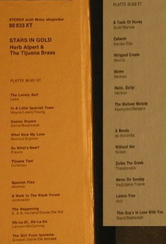 Alpert,Herb & Tijuana Brass: Stars In Gold, Box + Poster/Bookl., AM(80 833 XT), D,  - 2LP - H3188 - 12,50 Euro