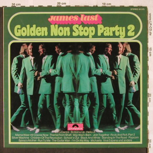 Last,James: Golden Non Stop Party 3, Polydor Club-Sonderaufl.(61 575), D, 1972 - LP - H3196 - 6,00 Euro