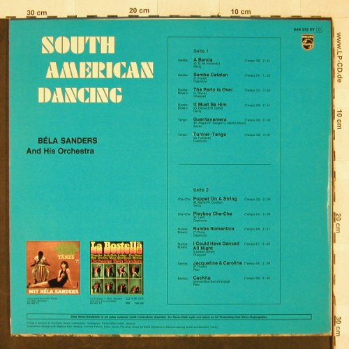 Sanders,Bela & Orch.: South American Dancing, Philips(844 315 PY), D,  - LP - H3213 - 7,50 Euro