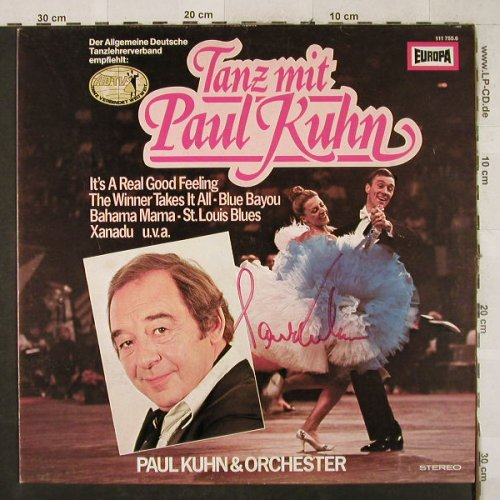 Kuhn,Paul & Orchester: Tanzparty Mit Paul Kuhn,Autogramm, Europa(111 755.6), D, vg+/m-, 1980 - LP - H3498 - 9,00 Euro