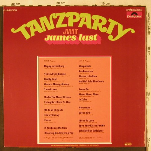 Last,James: Tanzparty, Polydor(38 915 5), D, Club Ed,  - LP - H3957 - 6,00 Euro