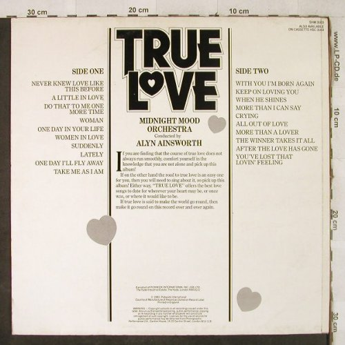 Midnight Mood Orchestra: True Love - cond.by Alyn Ainsworth, Pickwick(SHM 3103), UK, 1981 - LP - H3980 - 5,00 Euro