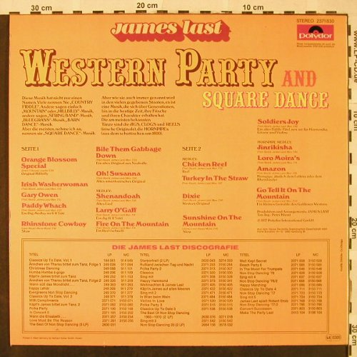 Last,James: Western Party and Square Dance, Polydor(2371 830), D, 1977 - LP - H4812 - 7,50 Euro