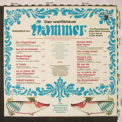 Franziskus & The Royal-Bavarian Bra: Der Weißblaue Hammer, Philips(6305 140), D,  - LP - H4857 - 6,00 Euro