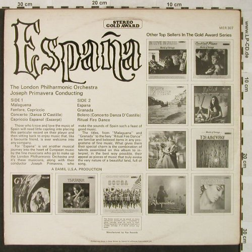 Royal Philharmonic Orchestra: Espana - Pops Concert, Stereo Gold Award(MER 307), UK, 1970 - LP - H5120 - 5,00 Euro