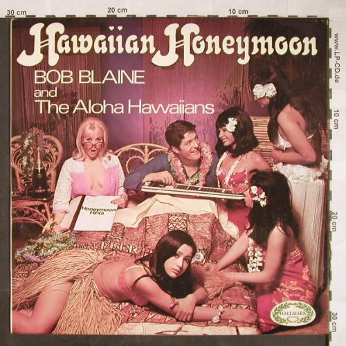 Blaine,Bob and the Aloha Hawaiians: Hawaiian Honeymoon,vg-/vg+,playable, Hallmark(CHM 624), UK, 1969 - LP - H51 - 3,00 Euro
