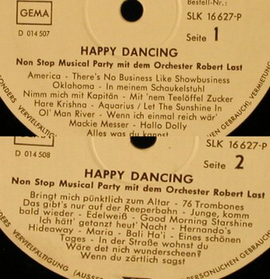 Last,Robert - Orchester: Happy Dancing,Musterplatte No Cover, Decca(SLK 16 627-P), D,VG-/--,  - LP - H5306 - 5,00 Euro
