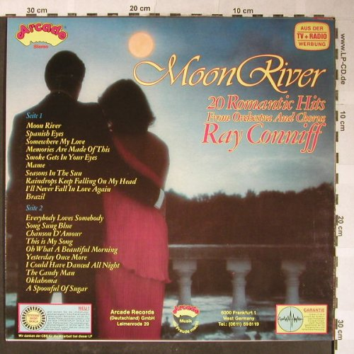 Conniff,Ray: Moon River , 20 Romantic..., Arcade(ADE G 74), D, 1979 - LP - H5384 - 5,00 Euro