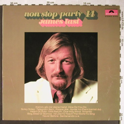 Last,James: Non Stop Party 14, Club-Sonderaufl., Polydor(61 615), D, 1972 - LP - H5639 - 5,50 Euro