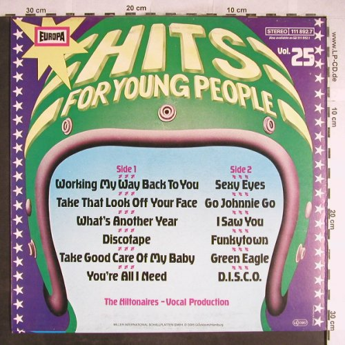 Hiltonaires: Hits for young people (25), Europa(111 892.7), D, 1980 - LP - H6633 - 4,00 Euro