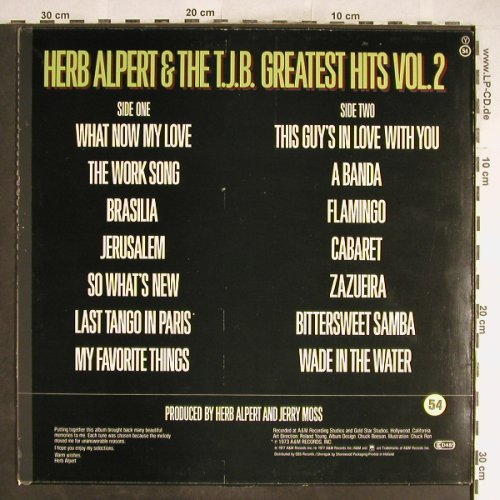 Alpert,Herb & Tijuana Brass: Greatest Hits Vol.2 (73), A&M(AMLH 64627), NL, 1977 - LP - H6699 - 5,00 Euro