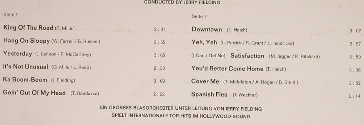 Hollywood Brass: Same, cond.Jerry Fielding, Philips(843 514 B`Y), D, 1966 - LP - H6889 - 6,00 Euro