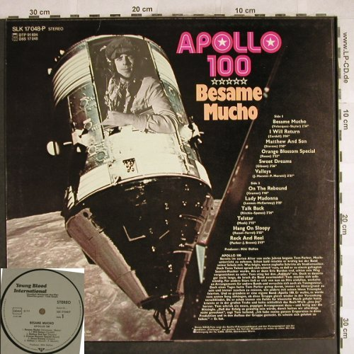 Apollo 100: Besame Mucho,  vg+/m-, Young Blood,Warenprobe(SLK 17048-P), D, 1974 - LP - H7375 - 12,50 Euro